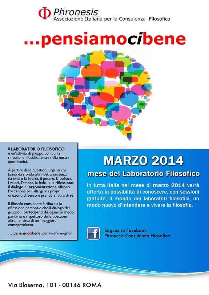 Phronesis - Laboratori filosofici Marzo 2014