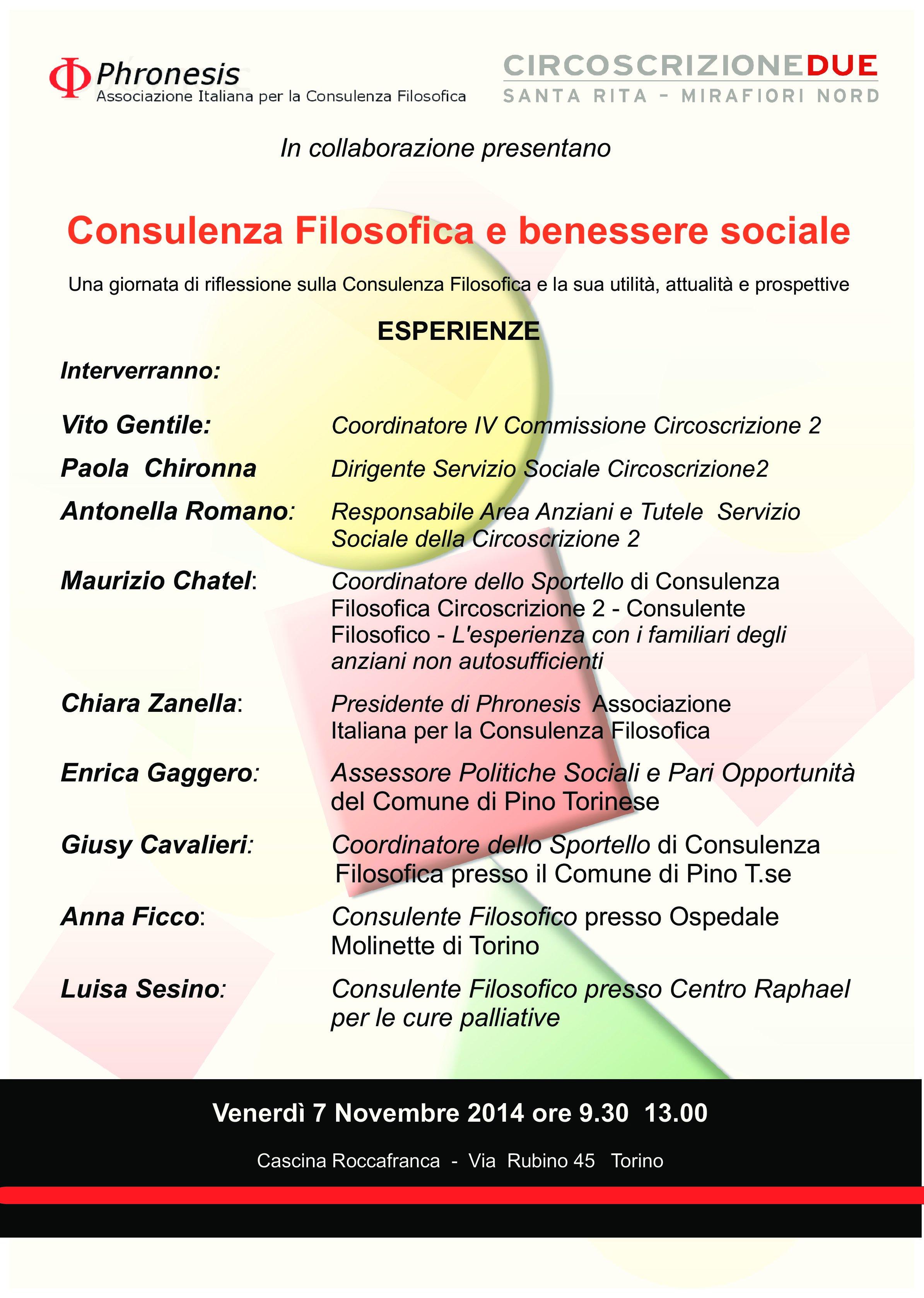 Consulenza Filosofica e benessere sociale