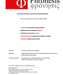 Phronesis Anno II, seconda serie, numero 2, febbraio 2020
